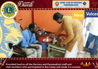 provided food to doctors,staff